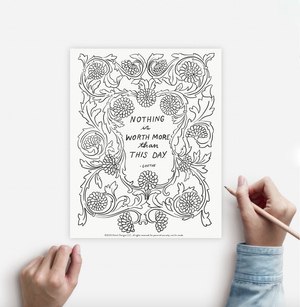 Coloring Page THIS DAY Instant Download