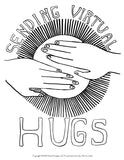 Coloring Page HUGS Instant Download