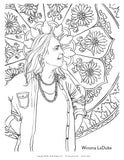 5 Women of Earth Day Coloring 5 Page Instant Download