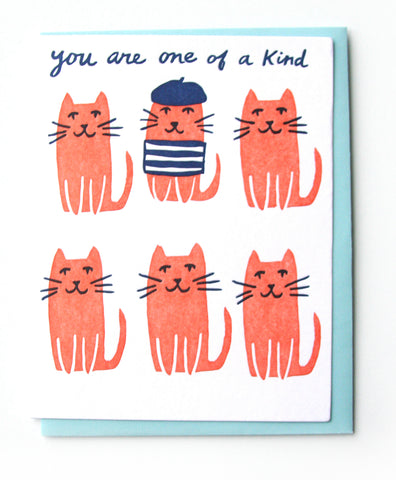 One of a Kind Cats Friendship Card