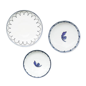 Blue Bird Set of 3 Canapé Dishes