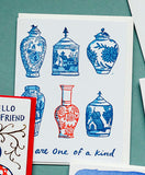 Vase One of a Kind Friendship Card