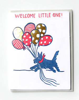 Welcome Little One Congratulations Baby Card