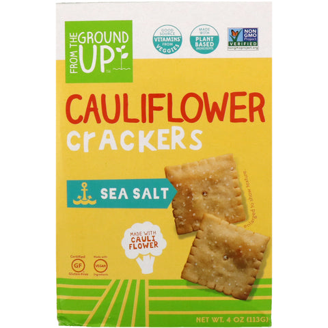 Cauliflower Crackers Sea Salt (4 Oz)