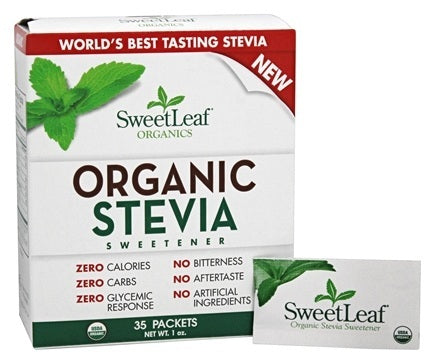 SweetLeaf Organic Stevia Sweetener 35 packets (1 Oz)