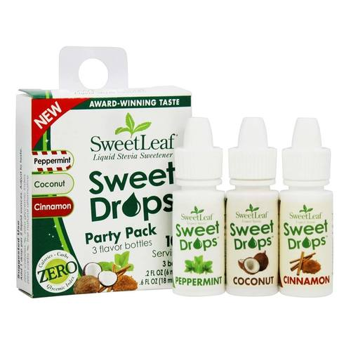 SweetLeaf Liquid Stevia Sweetener Sweet Drops 3 Bottles (6 fl oz)