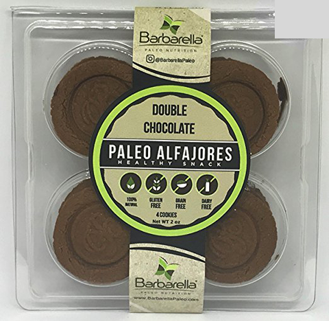 Barbarella Double Chocolate Paleo Alfajores - 4 units
