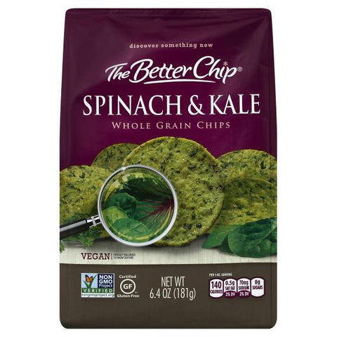 The Better Chips Spinach & Kale 6.4 OZ
