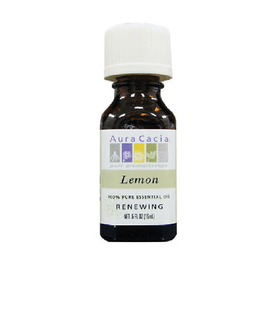 Aura Cacia Essential Lemon Oil (0.5 FL OZ.)