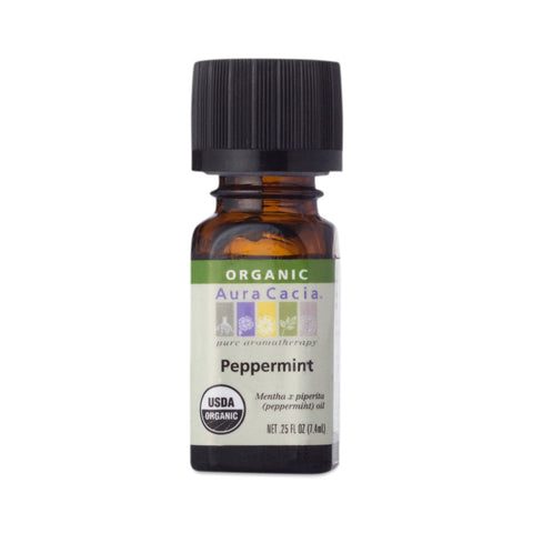 Aura Cacia Essential Organic Peppermint Oil (0.25 FL OZ.)