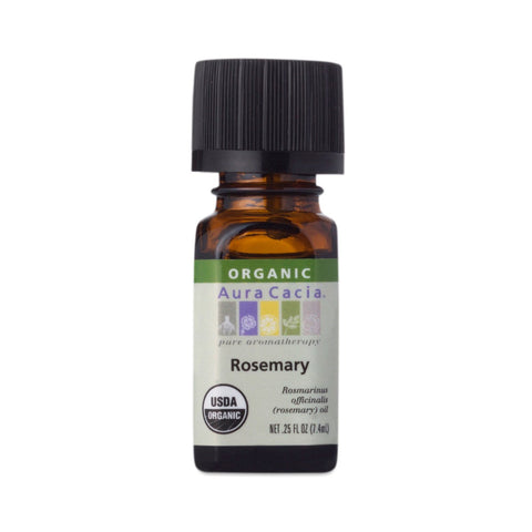 Aura Cacia Essential Organic Rosemary Oil (0.25 FL OZ.)
