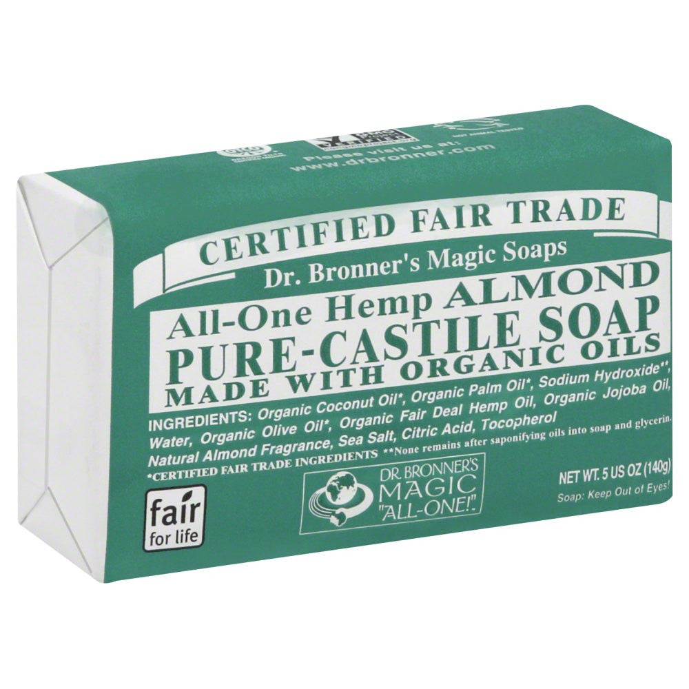 Dr. Bronner`s Organic All-One Hemp Almond Pure-Castile Soap  5 OZ.