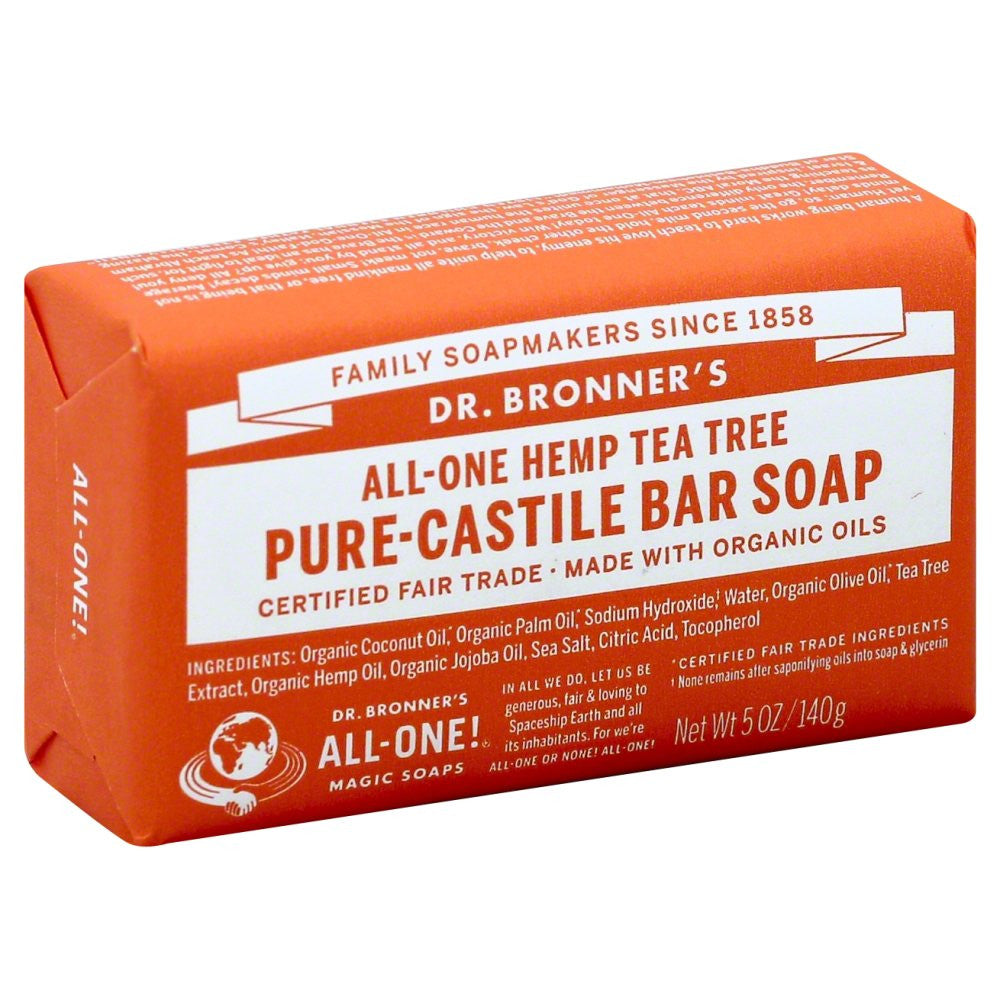 Dr. Bronner's Organic All-One Hemp Tea Tree Pure-Castile Soap  5 OZ.