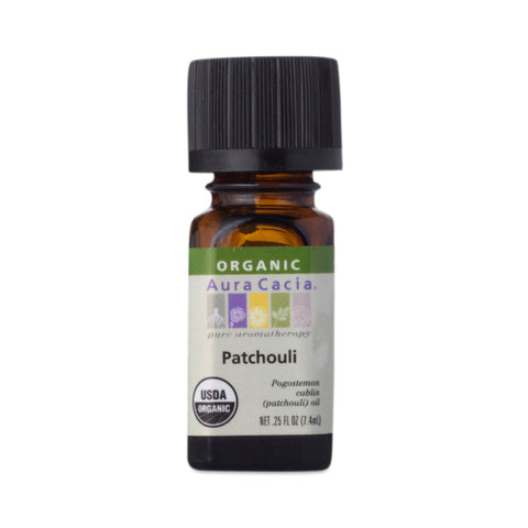 Aura Cacia Essential Organic Patchouli Oil (0.25 FL OZ.)