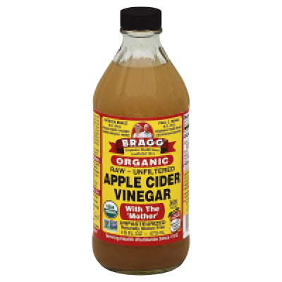 BRAGG Apple Cider Vinegar, Raw, Unfiltered (16oz)