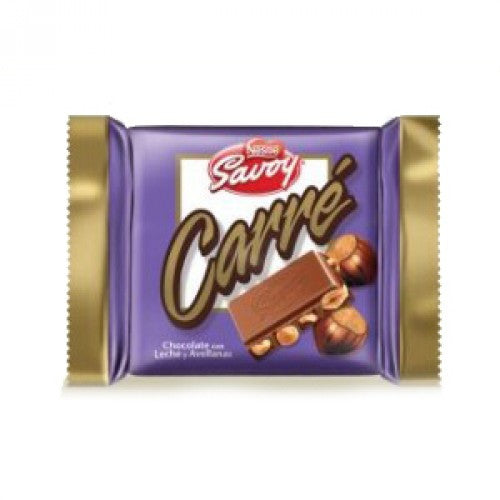 SAVOY Carre Chocolate with Hazelnut (3.6 Oz)