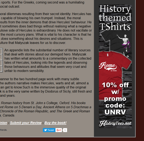 History Tees Affiliate Banner