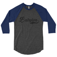 Babylon Black 3/4 sleeve raglan shirt