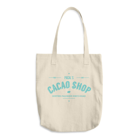 Pacal's Cacao Shop Cotton Tote Bag