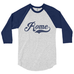 Rome Blue Type 3/4 sleeve raglan shirt