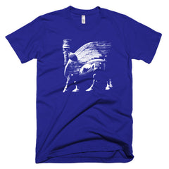 LAMASSU Human-headed winged bull and winged lion Short sleeve men's t-shirt