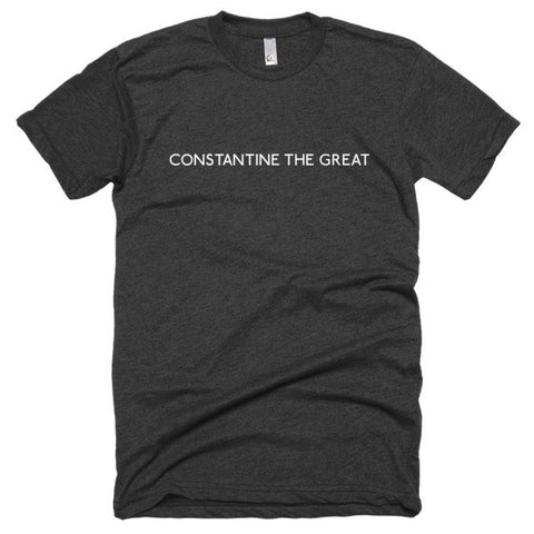 Constantine the Great Short sleeve soft t-shirt