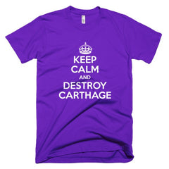 Keep Calm and Destroy Carthage Short sleeve men's t-shirt