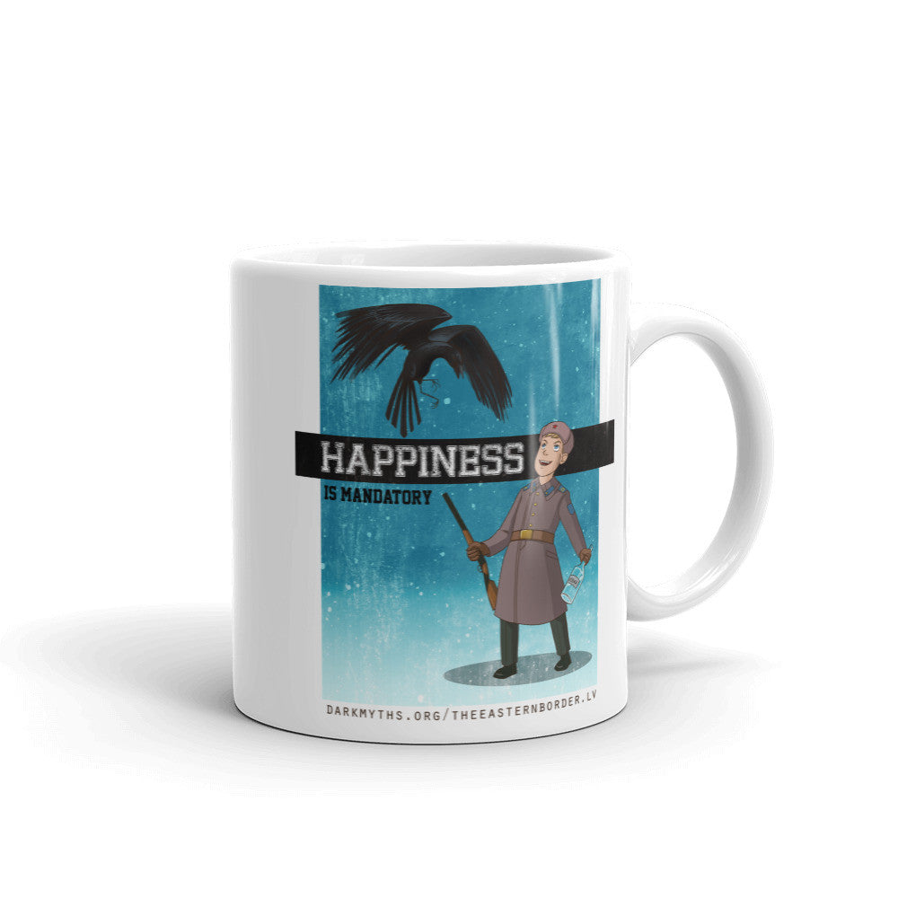 Happiness is Mandatory Mug made in the USA