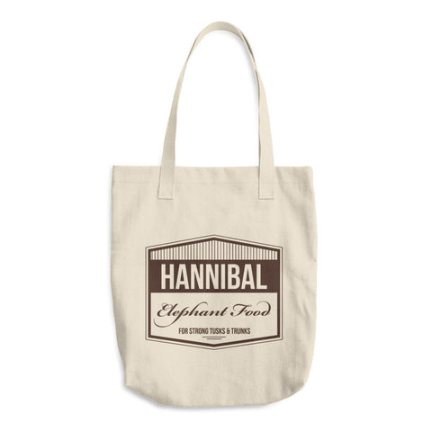 Hannibal Elephant Food Cotton Tote Bag