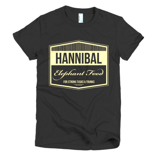 Hannibal Elephant Food - Short sleeve women's t-shirt