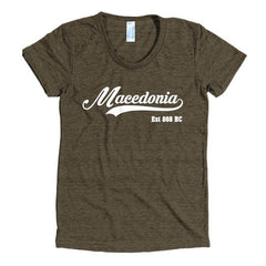 Macedonia Women's short sleeve soft t-shirt