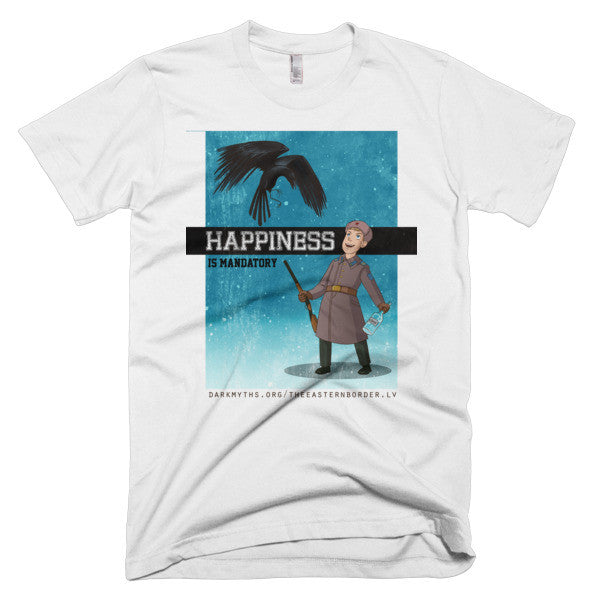 Happiness is Mandatory Short sleeve men's t-shirt