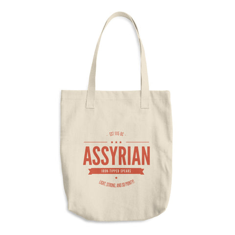 Assyrian Iron Tipped Spears Cotton Tote Bag