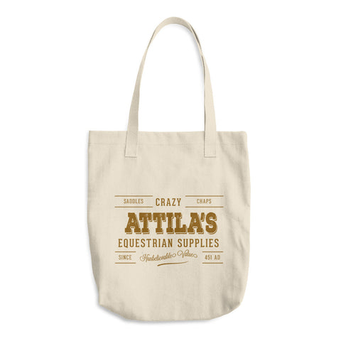 Crazy Attila's Equestrian Supplies Cotton Tote Bag