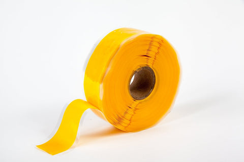 "Yellow 1"" x 12' Self-Fusing Silicone Tape"