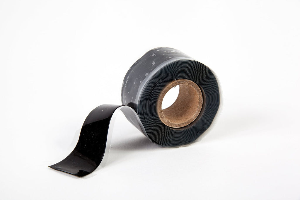 "Black 1"" x 12' Self-Fusing Silicone Tape"