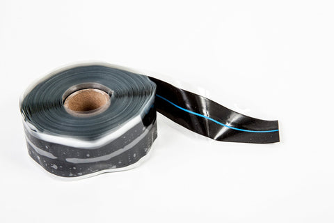 "Black & Blue 1"" x 36' Self-Fusing Silicone Tape"