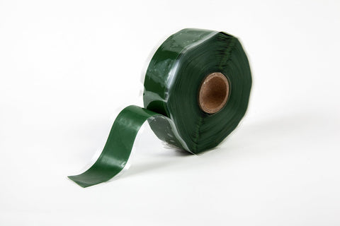"Green 1"" x 12' Self-Fusing Silicone Tape"