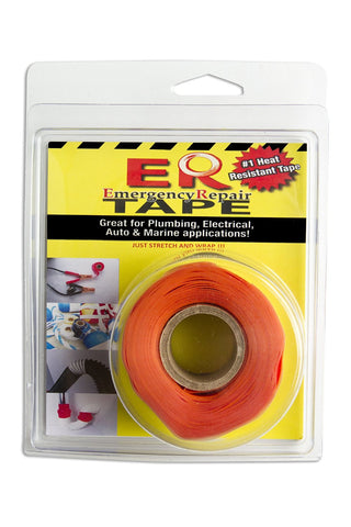 "Orange 1"" x 12' Self-Fusing Silicone Tape"