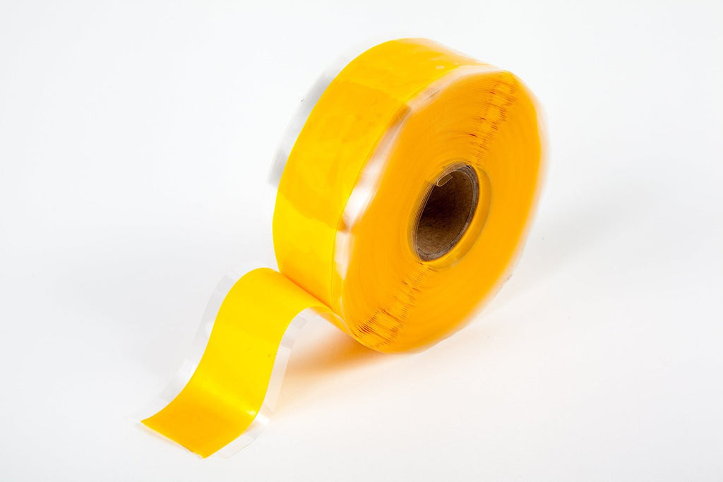"Yellow 1"" x 36' Self-Fusing Silicone Tape"