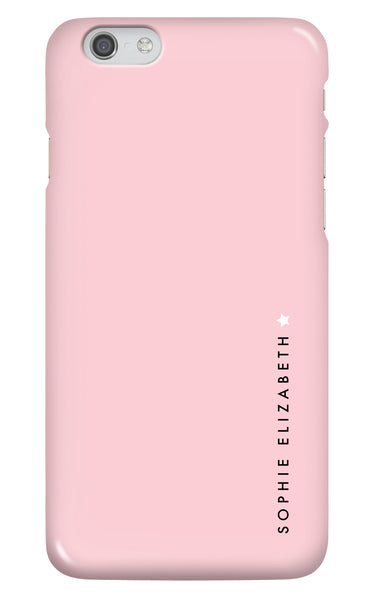 Personalised Pink Star Phone Case