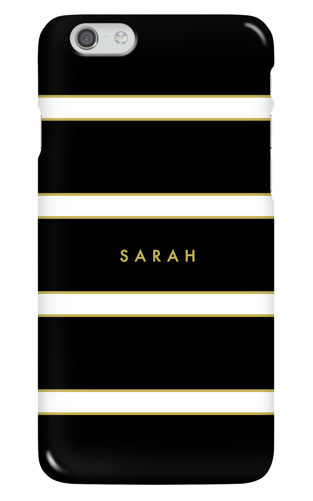 Personalised Black Stripe Phone Case
