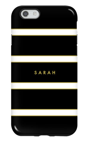 Personalised Black Stripe Tough Phone Case