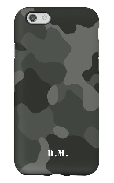Personalised Camo Matte Tough Phone Case