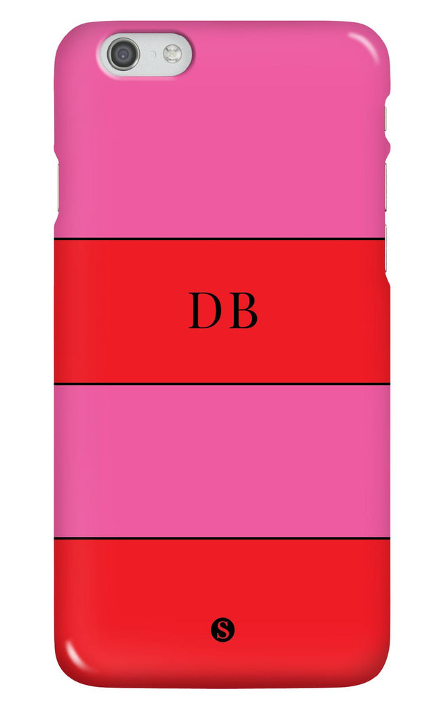 Personalised Two Tone Stripe Phone Case