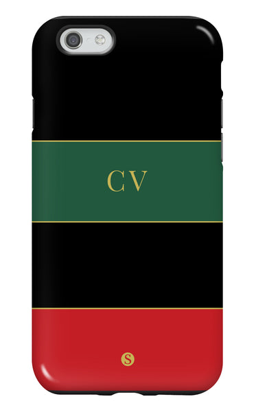 Personalised Red & Green Tough Phone Case