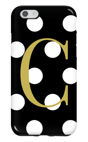 Personalised Spotty Tough Phone Case