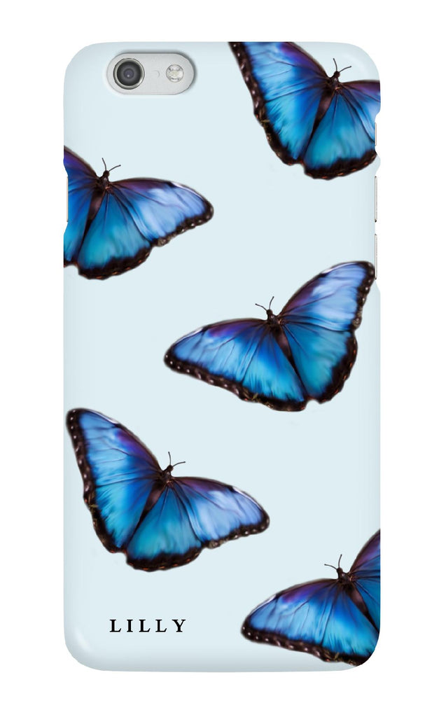 Personalised Blue Butterfly Case