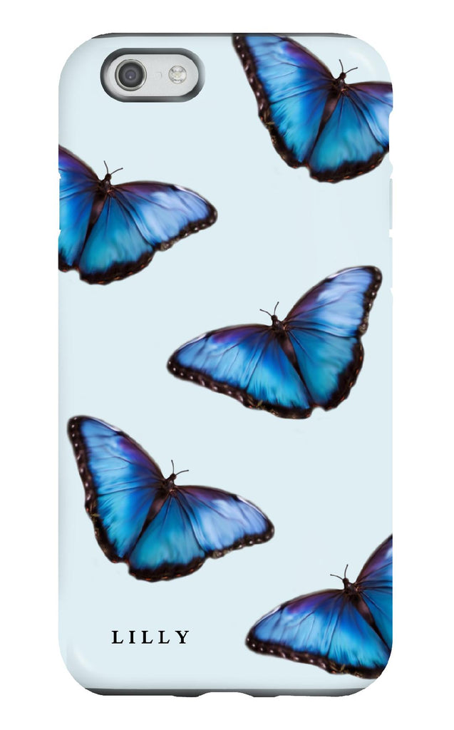 Personalised Blue Butterfly Tough Phone Case
