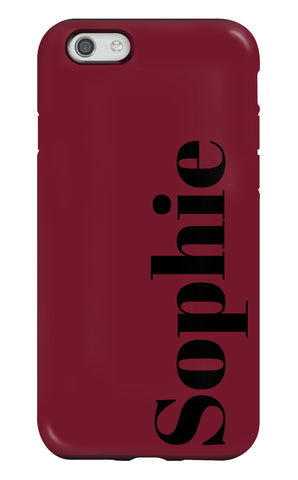 Personalised Deep Red Tough Phone Case